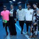 Neymar attends Paris Fashion Week with glamorous girlfriend Bruna Marquezine as team-mate Dani Alves dons bizarre leather gloves