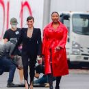 Megan Thee Stallion and Sofia Carson – Photoshoot candids for Revlon in New York
