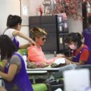 Lori Loughlin was spotted getting her nails done and a massage in Beverly Hills, California on August 4, 2016 - 454 x 412