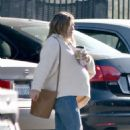 Hilary Duff – Out with her coffee in Studio City