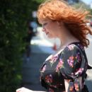 Christina Hendricks – InStyle Day of Indulgence Party in Brentwood - 454 x 681