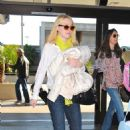 Dakota Fanning was spotted at Los International Airport (February 22)