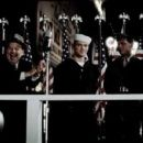 The borough president (Jon Polito) with 'Doc' Bradley (Ryan Phillippe), Rene Gagnon (Jesse Bradford) and Ira Hayes (Adam Beach) in DreamWorks Pictures/ Paramount Pictures' Flags of Our Fathers - 2006 - 454 x 193