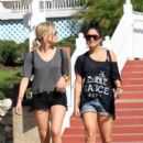 Ashley Benson and Vanessa Hudgens Busch Gardens