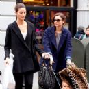 Miranda Kerr And Lily Aldridge Out In NY