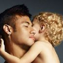 Neymar and his little son Davi Lucca