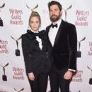Emily Blunt and John Krasinski :  71st Annual Writers Guild Awards - New York Ceremony - 396 x 600
