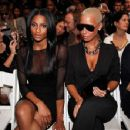 Amber Rose and Ciara attend Mercedes-Benz Fashion Week at Bryant Park in New York, New York - September 11, 2009 - 454 x 352