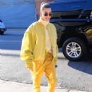 Hailey Baldwin in Yellow – Out and about in New York