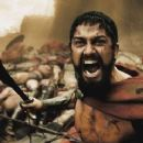 """A wounded Leonidas (GERARD BUTLER) roars his defiance at the Persian invaders in Warner Bros. Pictures', Legendary Pictures' and Virtual Studios' action drama """"300,"""" distributed by Warner Bros. Pictures. Photo courtesy of War"""