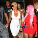 Blac Chyna, Amber Rose, and James Harden at 1 Oak Nightclub in West Hollywood - September 15, 2015 - 454 x 721