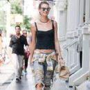 Behati Prinsloo is spotted out and about in New York City, New York on September 2