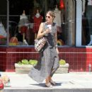 Selma Blair in Patterned Dress out in Los Angeles - 454 x 346