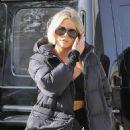 Khloe Kardashian and Scott Disick filming in Woodland Hills