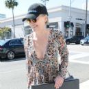Sharon Stone in Sheer Dress out in Beverly Hills - 454 x 591