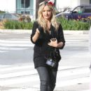 """""""Buffy"""" star Sarah Michelle Gellar drops off her daughter Charlotte at school on October 31, 2012 in Santa Monica, California. Sarah showed off her Halloween spirit, wearing a pair of ears on her head"""