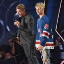 Justin Beiber accept the award for 'Dance Song of the Year,' for 'Where are u now,' onstage at the iHeartRadio Music Awards which broadcasted live on TBS, TNT, AND TRUTV from The Forum on April 3, 2016 in Inglewood, California