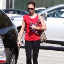 Emily Blunt: leaving a gym in Los Angeles