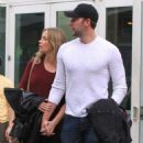 Emily Blunt and husband John Krasinski out for a movie date at the Arclight Cinemas in Hollywood, California on January 4, 2014 - 454 x 563