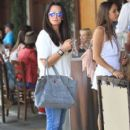 Kyle Richards and husband Mauricio Umansky take their daughters Alexia, Sophia and Portia out for lunch in Beverly Hills, California on June 10, 2016