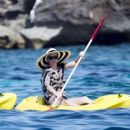 Katy Perry in Bikini on a yacht in Formentera