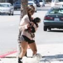Brenda Song was spotted out and about in Los Angeles on August 25