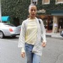 Zoe Saldana: leaving a medical office in Beverly Hills