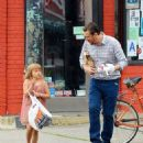 Jason Segel with Matilda Ledger out for breakfast in New York City (July 14)
