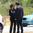 Jennifer Love Hewitt Filming Criminal Minds In Los Angeles