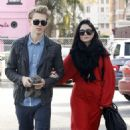 Vanessa Hudgens, Austin Butler heads to church after dining at a sushi restaurant in Hollywood, Ca December 30th.2012