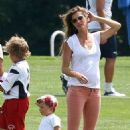Gisele Bundchen: during the New England Patriots' training camp in Foxboro