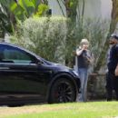 Miley Cyrus – outside house in Calabasas