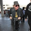Axl Rose is seen at LAX on April 25, 2016