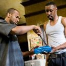 Mike Epps as Brody and Omari Hardwick as Shavoo in Next Day Air.
