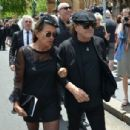 Brian Johnson and Brenda Johnson at the funeral service for AC/DC co-founder Malcolm Young at St Mary's Cathedral on November 28, 2017 in Sydney, Australia - 454 x 306