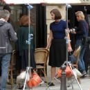 Adele Exarchopoulos on the set of new film 'The White Crow' in Paris - 454 x 341