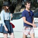 Anne Hathaway and Adam Shulman: Flamingo Friendly