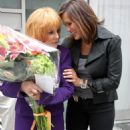 Mariska Hargitay - With Ann Margret On Set Of ''Law And Order SVU'' In NYC - July 29, 2010