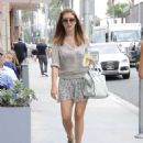 Kate Walsh In Mini Skirt Out In Los Angeles
