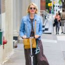 Naomi Watts Ride a Scooter – Out in New York