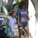 Halle Berry In Shorts Out In Beverly Hills