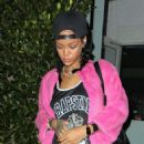 Rihanna Leaving Giorgio Baldi In Santa Monica