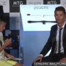 Cristiano Ronaldo defends Japanese boy as crowds snigger at his attempts to ask the Real Madrid striker questions in Portuguese
