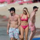 Stephanie Pratt vacationing out in Barbados