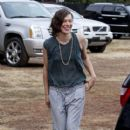 Milla Jovovich: at the Mr Bones Pumpkin Patch in Hollywood