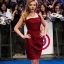 Scarlett Johansson wears Vivienne Westwood - 'Captain America: The Winter Soldier' London Premiere