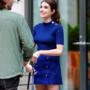 Emma Roberts in royal blue outfit out in New York - 454 x 847