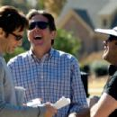 David Duchovny as Steve, Gary Cole as Larry and director Derrick Borte in THE JONESES, written and directed by Derrick Borte. Photo Credit: Gene Page. TM & ©2010 ROADSIDE ATTRACTIONS. ALL RIGHTS RESERVED.