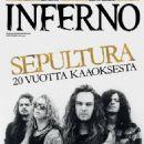 Max Cavalera, Paulo Jr., Igor Cavalera, Wagner Lamounier - Inferno Magazine Cover [Finland] (September 2013)