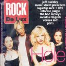 Melissa Auf der Maur, Patty Schemel, Eric Erlandson, Courtney Love - Rock De Lux Magazine Cover [Spain] (April 1995)